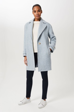 Hobbs Blue Carmen Coat