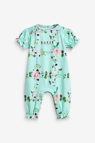Baker by Ted Baker Green Floral Romper