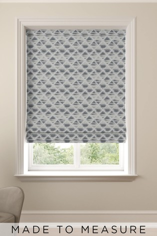 Slate Grey Souky Made To Measure Roman Blind