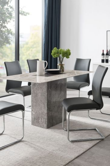 Rimini Dining Table with 6 Chairs by Alfrank