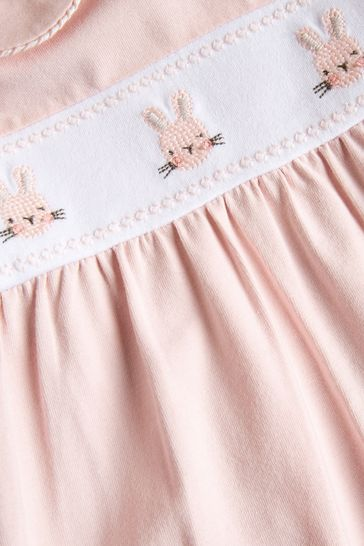 Pink Smart Bunny Sleepsuit (0mths-2yrs)
