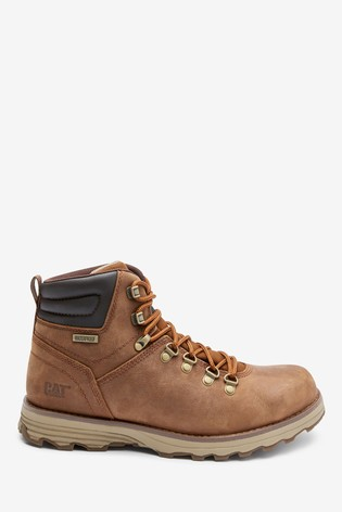 CAT® Brown Sire Waterproof Lace-Up Boots