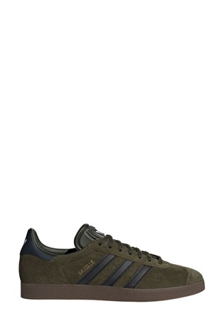 adidas Originals Khaki Gum Gazelle Trainers