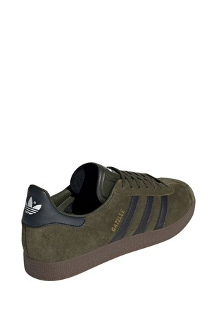 adidas Originals Khaki Gum Gazelle Trainers