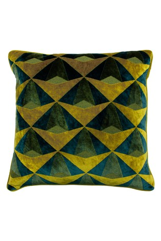 Leveque Geo Velvet Jacquard Cushion by Riva Home
