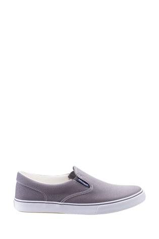Hush Puppies Grey Chandler Slip-On Shoes