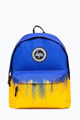 Hype. Blue Yellow Drips Backpack