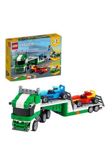 LEGO 31113 Creator 3-In-1 Race Car Transporter Building Set