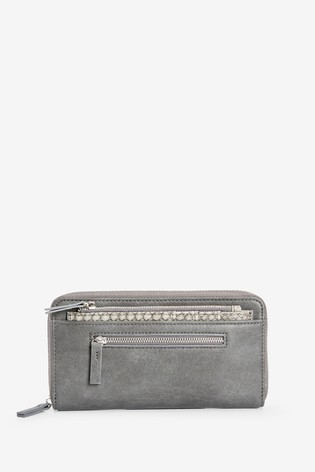 Grey Purse With Pull-Out Card Holder