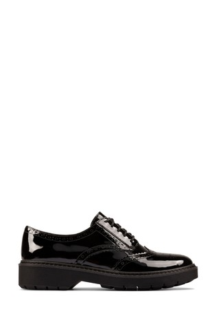 Clarks Black Pat Witcombe Echo Shoes