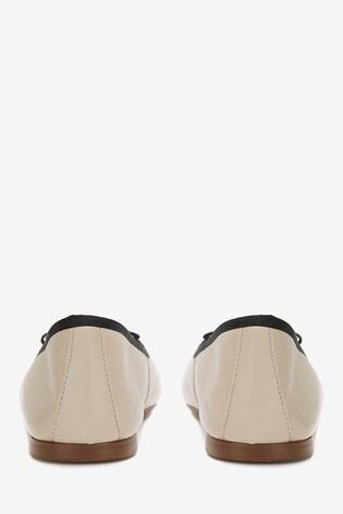 Mint Velvet Evie Cream Ballet Pumps