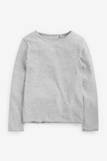 Grey T-Shirt Basic Rib Jersey (3mths-8yrs)
