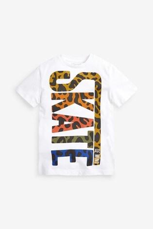 White Skate Graphic T-Shirt (3-16yrs)