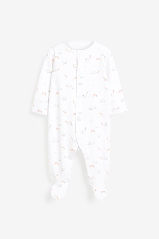 Bright Safari 7 Pack Printed Sleepsuits (0-2yrs)