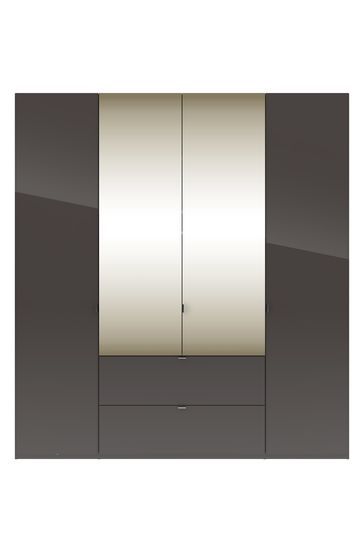 Monroe Four Door Combination Wardrobe With Mirror