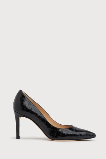 L.K.Bennett Black Floret Pointed Toe Courts
