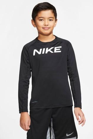Nike Black Long Sleeve Performance T-Shirt