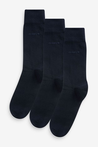GANT Black Soft Cotton Socks Three Pack