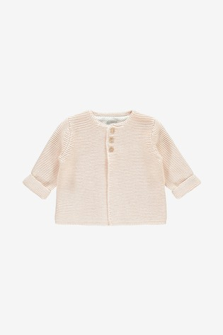 The Little Tailor Soft Pink Cotton Cardigan