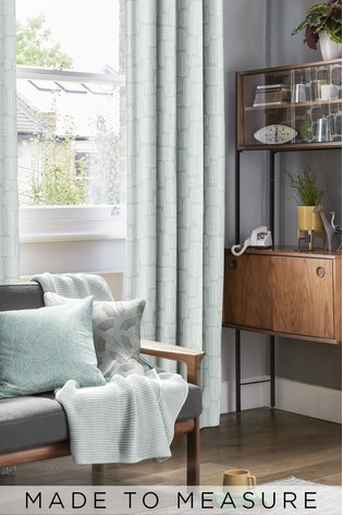 Little Trees Comet Grey Made To Measure Curtains by MissPrint