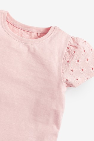 Pink 3 Pack Organic Cotton T-Shirts (3mths-7yrs)