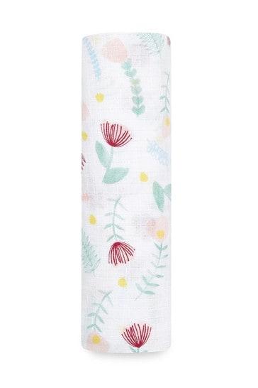 aden + anais Essentials Cotton Muslin Swaddle Flora Fauna Blanket