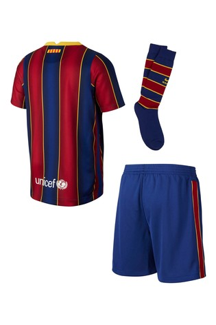 Nike Home FC Barcelona 20/21 Kids Kit