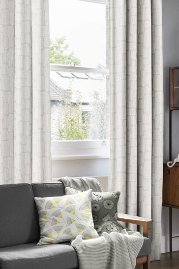 Little Trees Kernel Natural Made To Measure Curtains by MissPrint