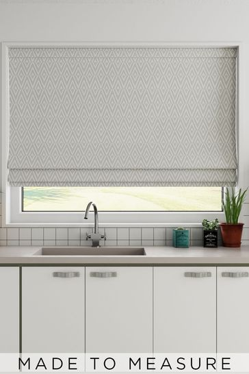 Nina Dove Grey Made To Measure Roman Blind