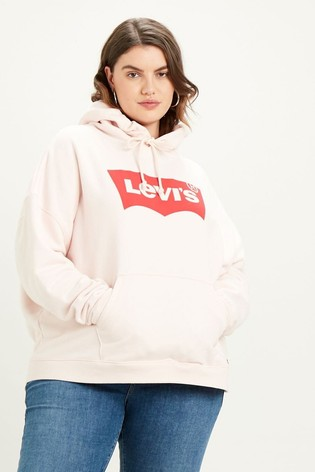 Levi's® Curve Pink Batwing Graphic Hoodie
