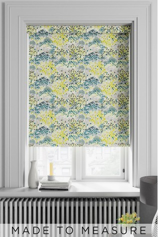 Meadow Floral Zest Green Made To Measure Roller Blind