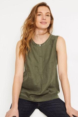 White Stuff Green Chutney Jersey Shirt