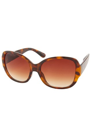 Accessorize Brown Savannah Glam Square Sunglasses