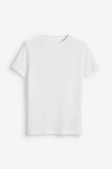 White 3 Pack GOTS Organic Rib T-Shirts (1.5-16yrs)