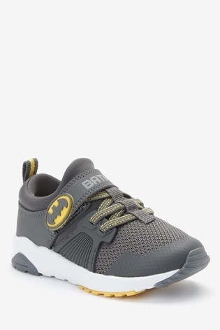 Grey Batman® Strap Touch Fastening Trainers (Younger)