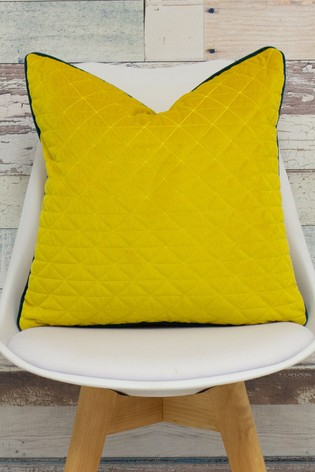 Quartz Quilted Piped Edge Cushion by Riva Home