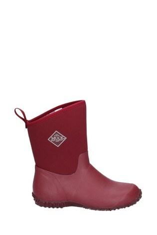 Muck Boots Red Muckster II Slip-On Short Boots