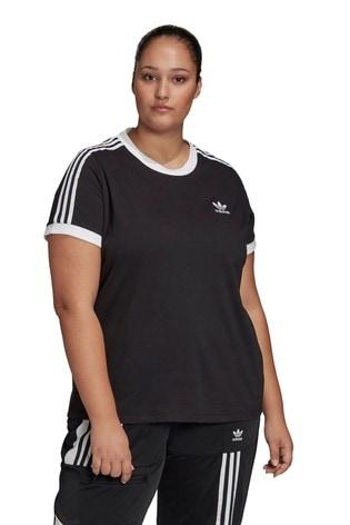 adidas Originals Curve 3 Stripe T-Shirt