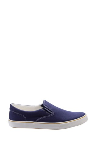 Hush Puppies Blue Chandler Slip-On Shoes