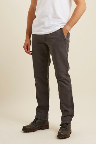 FatFace Grey Modern Coastal Chinos