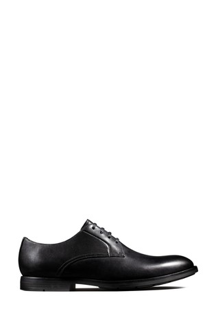 Clarks Black Leather Ronnie Walk Shoes