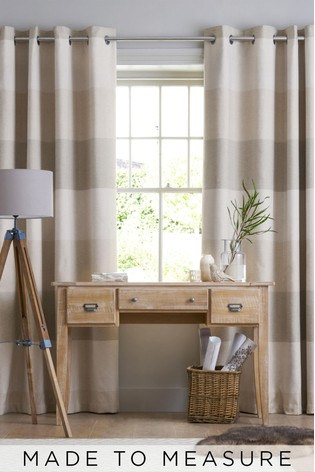 Locksley Stripe Natural Made To Measure Curtains