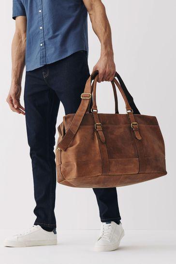 Tan Signature Leather Holdall