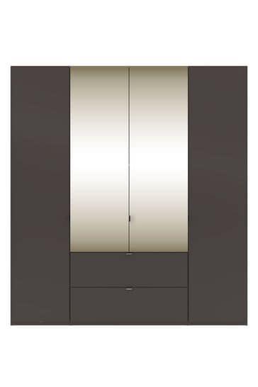 Monroe Four Door Combination Wardrobe With Mirror