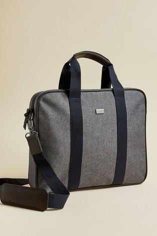 Ted Baker Grey Runaway Textured Document Bag