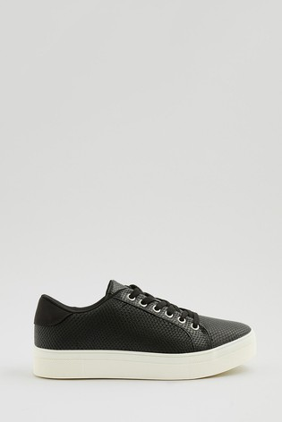 Accessorize Black Animal Textured Trainers