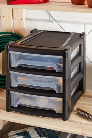 Shallow 3 Drawer Unit by Wham
