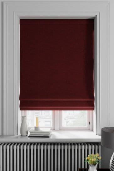 Soho Merlot Red Made To Measure Roman Blind
