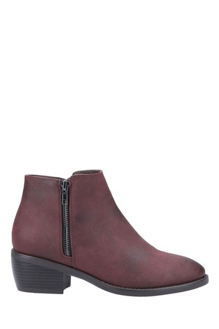 Divaz Red Ruby Ankle Boots