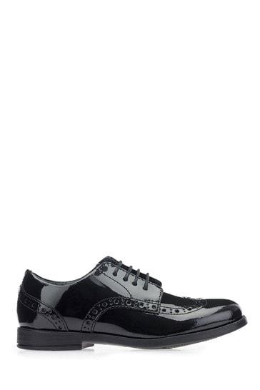 Start-Rite Brogue Pri Black Patent Leather Wide Fit Shoes